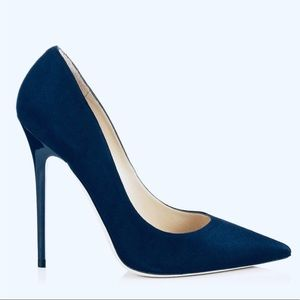 Jimmy Choo navy suede anouk pumps